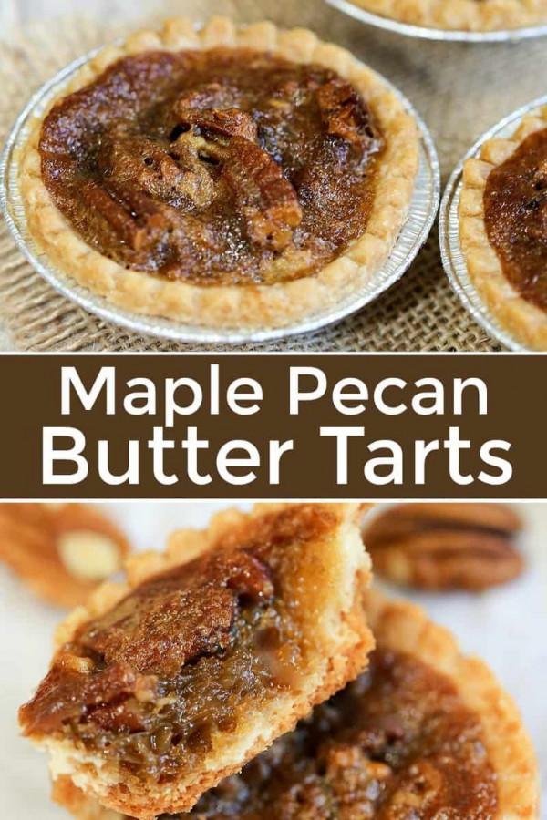 Maple Pecan Butter Tarts