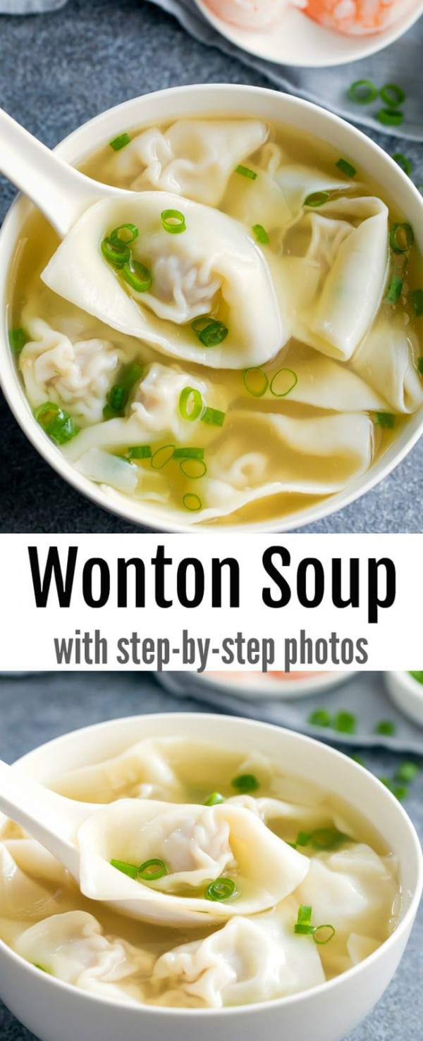 Homemade Wonton Soup (Video Step-by-Step)