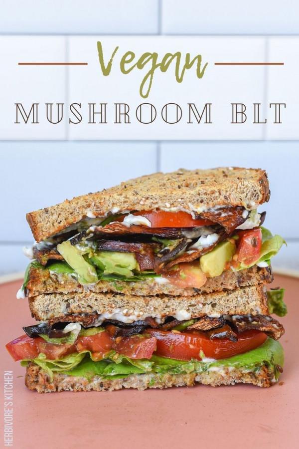 The Best Vegan BLT Sandwich (with Mushroom Bacon)