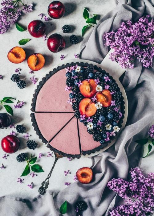 No-Bake Blackberry Mousse Tart
