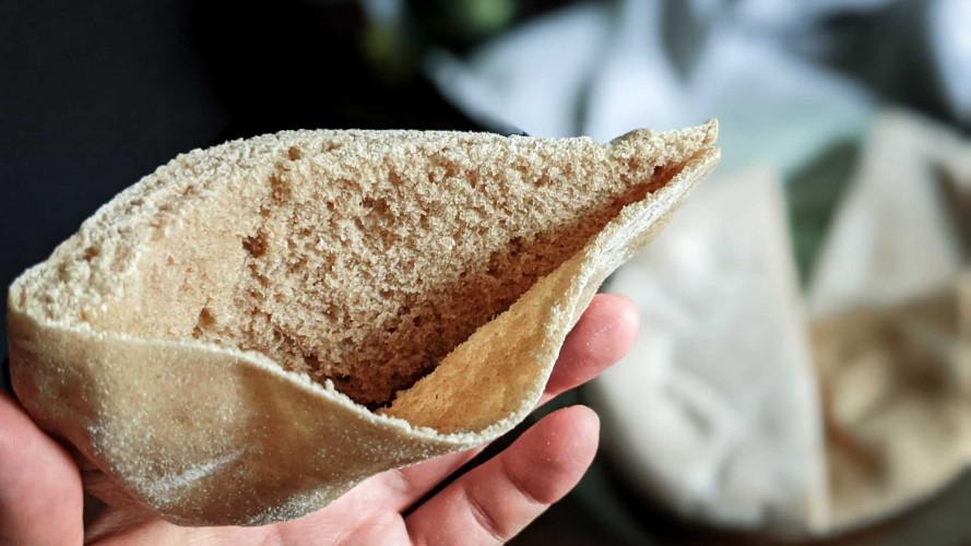Pocket Pita Bread with Teff Flour