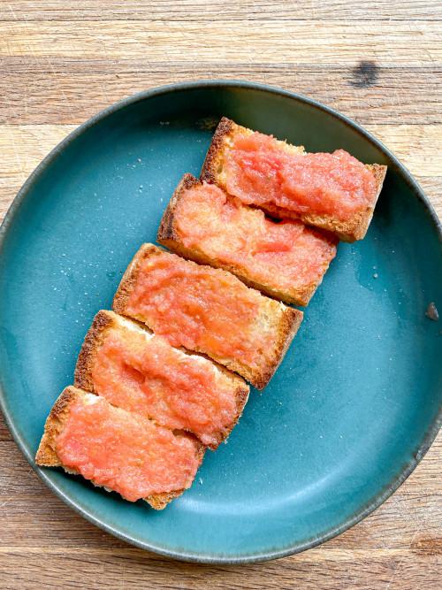 Pan con tomate - Spanish tapas