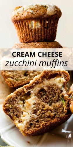 Cream Cheese Zucchini Muffins