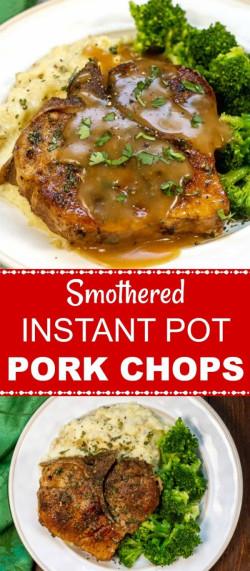 Smothered Instant Pot Pork Chops