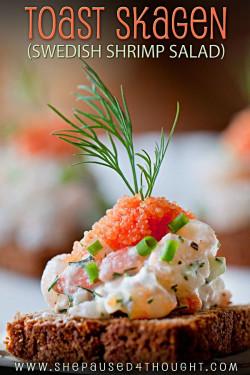 Toast Skagen - Swedish Shrimp Salad