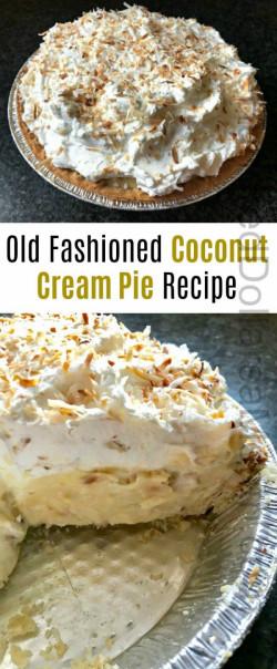 Zoe's Old Fashioned Coconut Cream Pie Recipe
