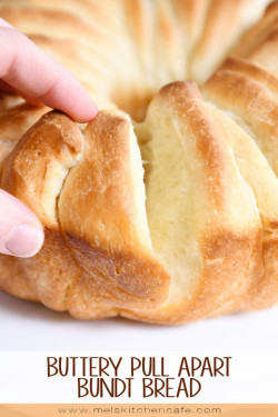 Buttery Pull Apart Bundt Bread | Mel's Kitchen Cafe