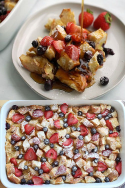 Berry French Toast Casserole (Make Ahead Overnight)