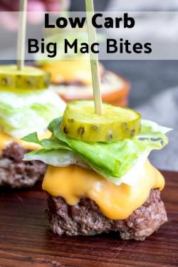 Low Carb Big Mac Bites (Keto)