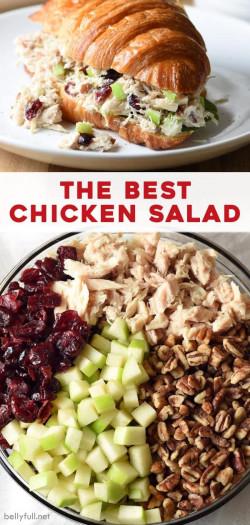 Best Chicken Salad Recipe With Cranberries, Apples, and Pecans