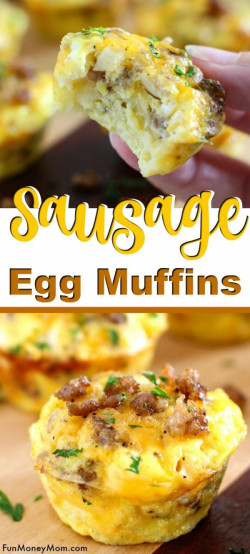 Mini Egg Muffins With Sausage And Cheddar