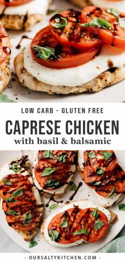 Easy Grilled Caprese Chicken Recipe