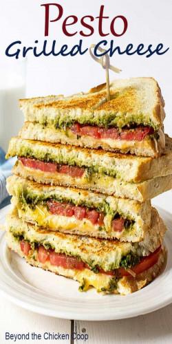 Pesto Grilled Cheese Sandwich