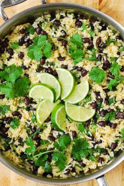 Cilantro-Lime Black Bean Rice