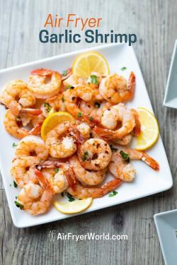 Healthy Air Fryer Shrimp Recipe 15 min Garlic, Lemon