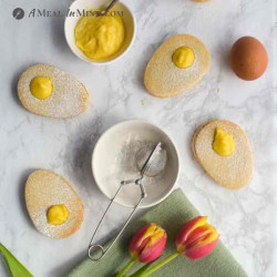 Easter Egg Cookies - Paleo with Lemon Curd