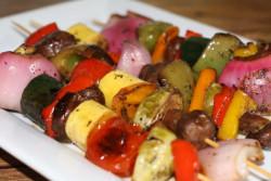 Marinated Veggie Kabobs Balsamic