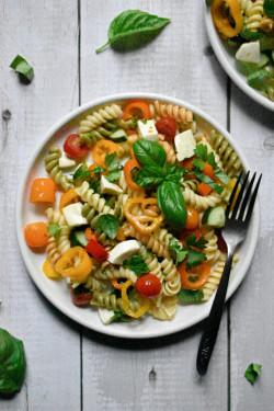 Garden Vegetable and Herb Pasta Salad