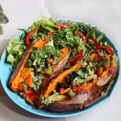 Stuffed Sweet Potatoes with Vegetables