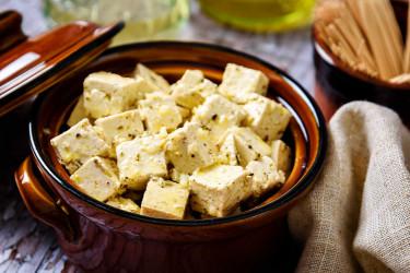 Vegan Tofu in Vinaigrette Dressing