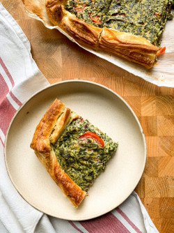 Vegan quiche with ricotta and spinach | Traditional Italian Dish