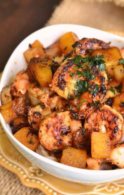 Tropical Shrimp Rice Bowl