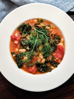 Tuscan Bean Soup with Kale and Fennel