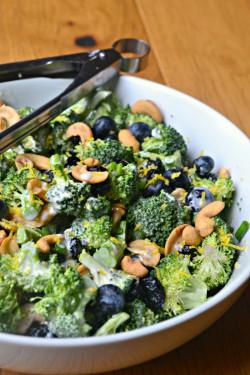 Blueberry Lemon Poppyseed Broccoli Salad