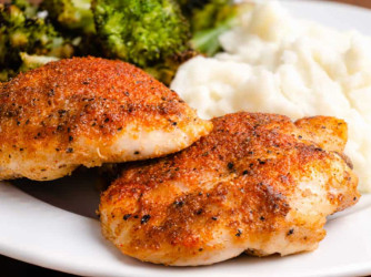 Easy Oven Roasted Chicken Thighs